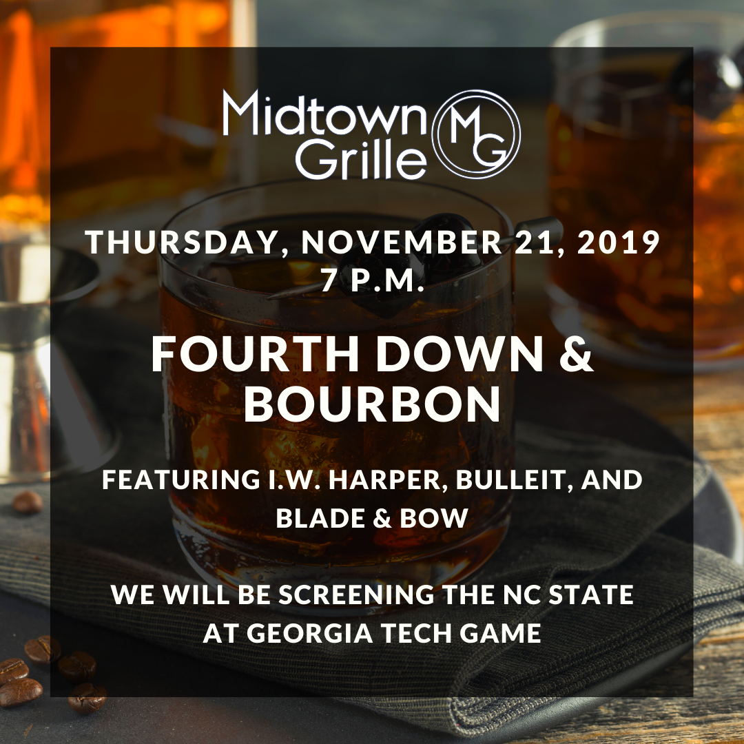 Fourth Down and Bourbon Tasting