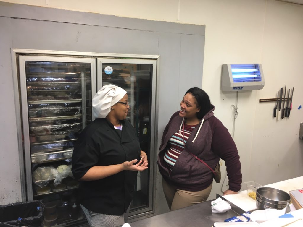 Pastry Chef Bria at Midtown Grille and Jamie Turner