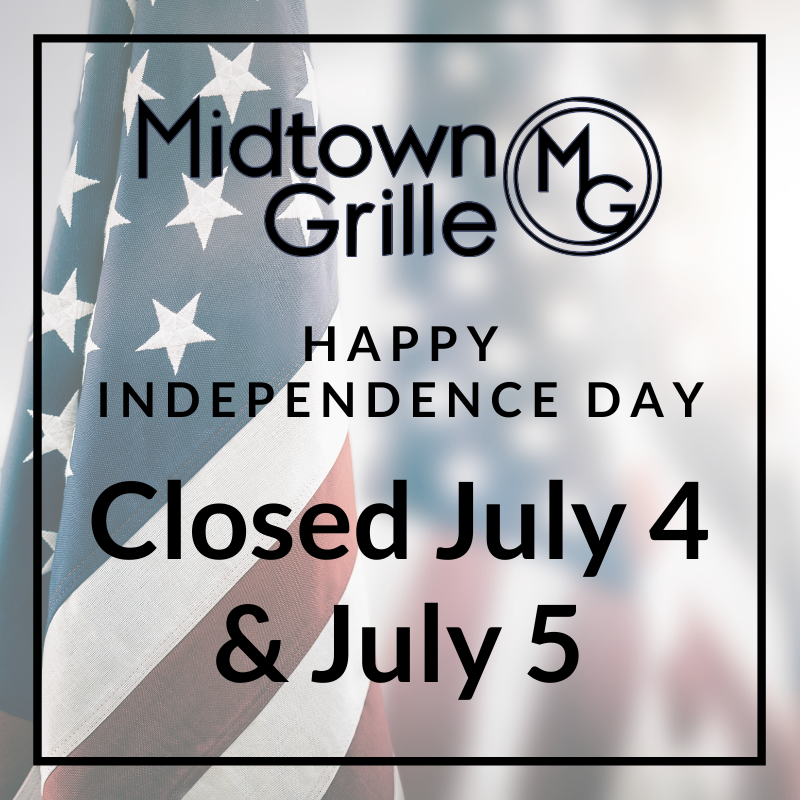 Happy Independence Day - Closed July 4 and 5, 2020
