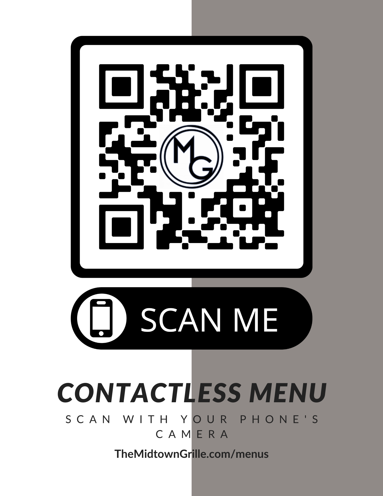 Midtown Grille - Contactless Menu