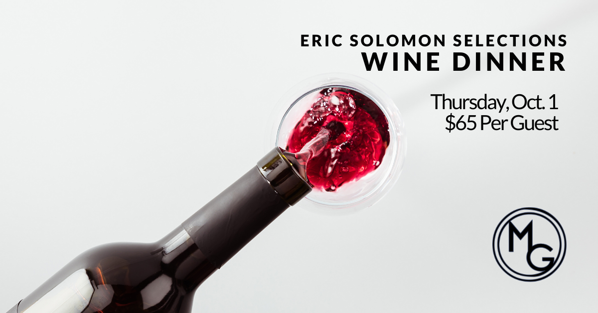 Midtown Grille October 1 2020 Eric Solomon Selections Wine Dinner